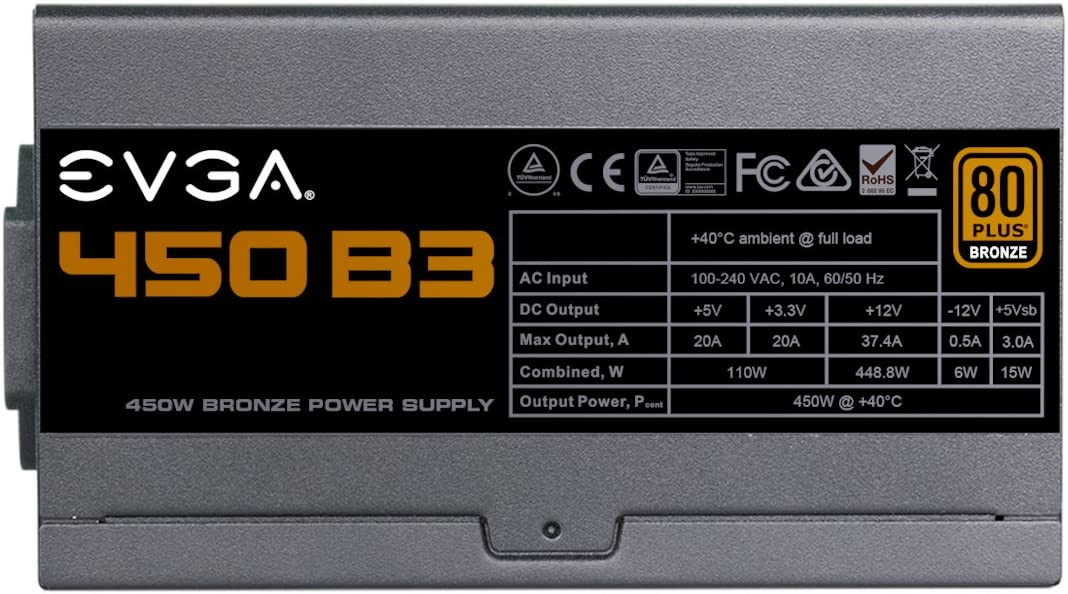 80+ Bronze 650W Semi Modular Power Supply 110-BQ-0650-V1 Includes Free Power On Self Tester EVGA 650 Bq 5 Year Warranty