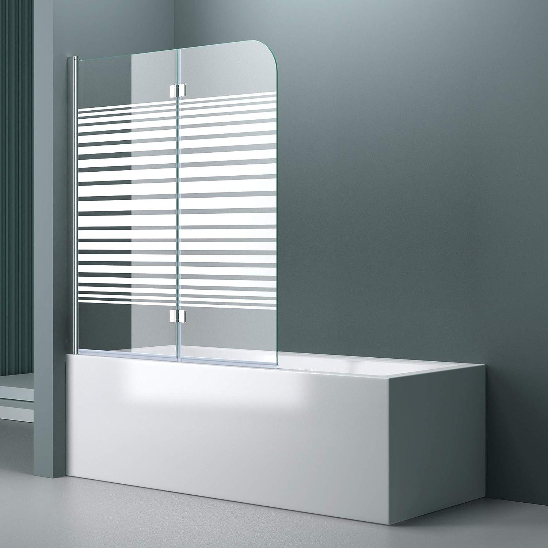 Mampara de cristal para bañera, ancho 117 cm x alto 141 cm, bañera de vidrio Cortona1408S-izquierda, incluye recubrimiento y bisagras.Nano revestimiento, mampara plegable para bañera.: Amazon.es: Bricolaje y herramientas