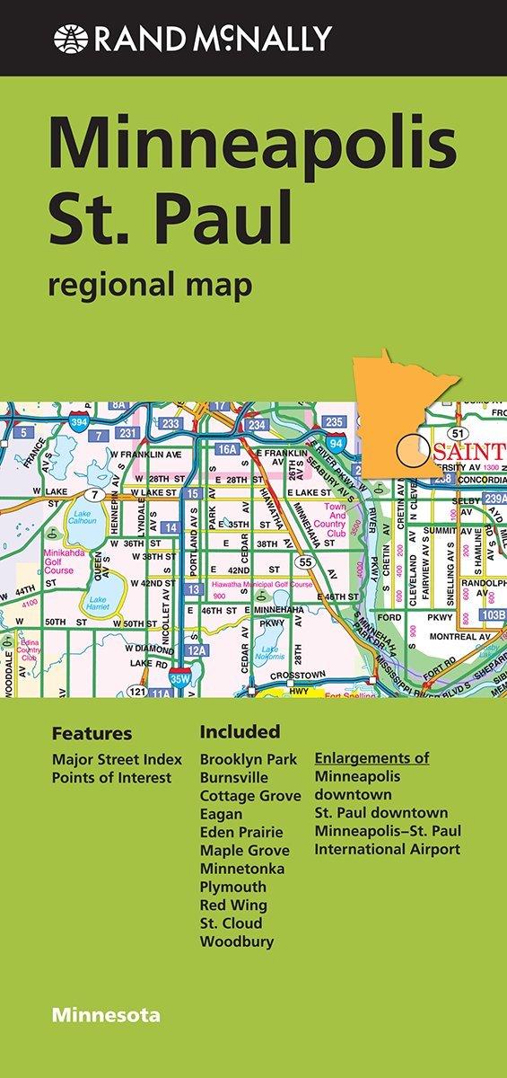 Rand Mcnally Minneapolis Minnesota Regional