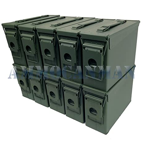 Twelve 50 Cal M2a1 W Twelve 30 Cal M19a1 1992-2001 Hunting Stenciled 24 Ammo Can Combo Set New
