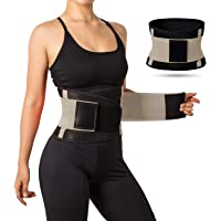 Jueachy Waist Trainer Belt for Women, Breathable Sweat Belt Waist Cincher Trimmer Body Shaper Girdle Fat Burn Belly Slimming Band for Weight Loss Fitness Workout