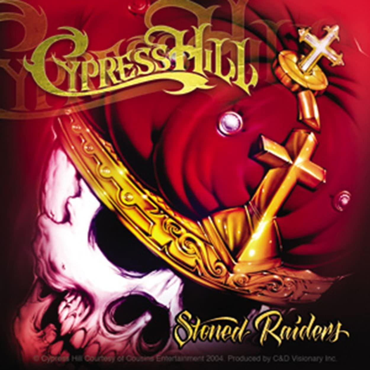 Licenses Products Cypress Hill Skull Crown Sticker C/&D Visionary Inc S-4056