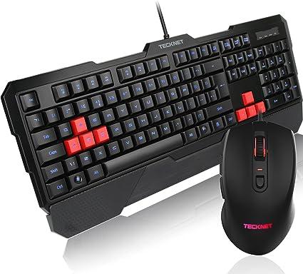Set de teclado y ratón con iluminación LED Kraken de TeckNet ...