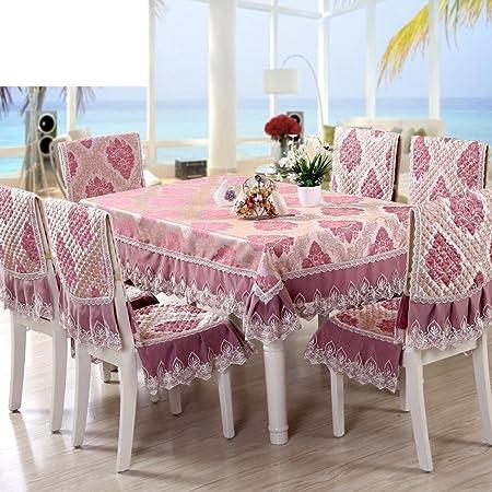 paño/mantel de jardín/Juego de sillas de comedor cojín/mantel/Cojín/mantel/Set de cubre sillas manteles-M 150*200cm(59x79inch): Amazon.es: Hogar