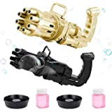 RUBEHOOW 2Pcs Bubble Gatling Gun for Kids, 8-Hole Super Large Number of Automatic Gatling Bubble Machine, can be Used as a Sm