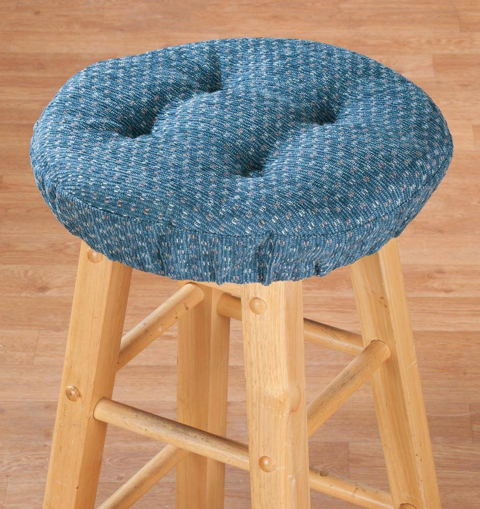 Amazon.com: Miles Kimball Beige Raindrop Bar Stool Cushions: Kitchen ...