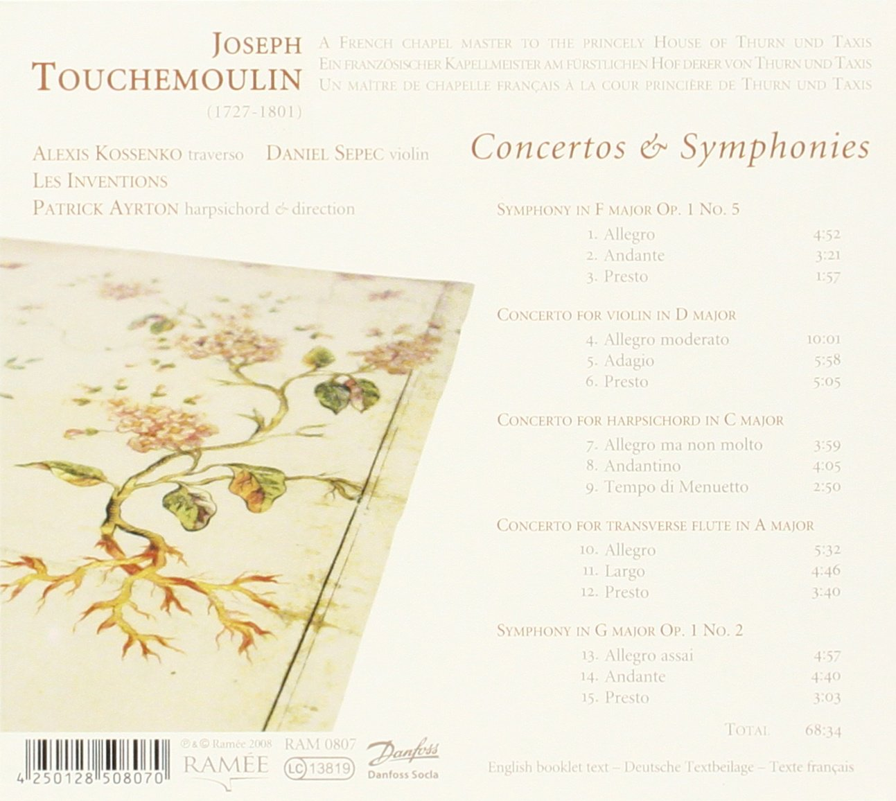 Touchemoulin: Concertos & Symphonies by Ramee