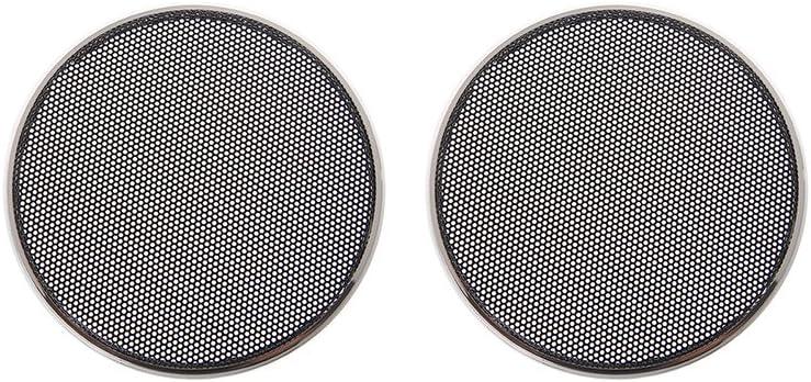 Simplelife 1 2 3 4 5 6 5 Zoll Lautsprecher Grills Cover Case Round Grill Schutz Lautsprecher Dekorativen Kreis Audio Zubehör Abs Schwarz Küche Haushalt
