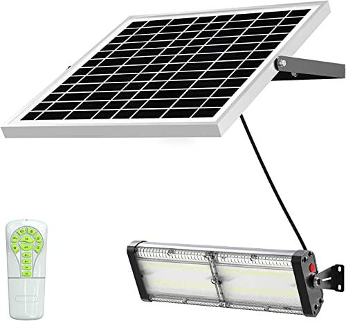 Solar LED Barn Light, 18,000mah Li-ion Battery for Outdoor Indoor Flood Light with Remote Control, 5,000 Lumen by spc