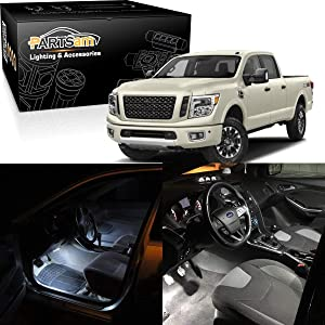 Partsam White Interior LED Light Package Kit Replacement Bulbs with Pry Bar Tool Compatible with 2009