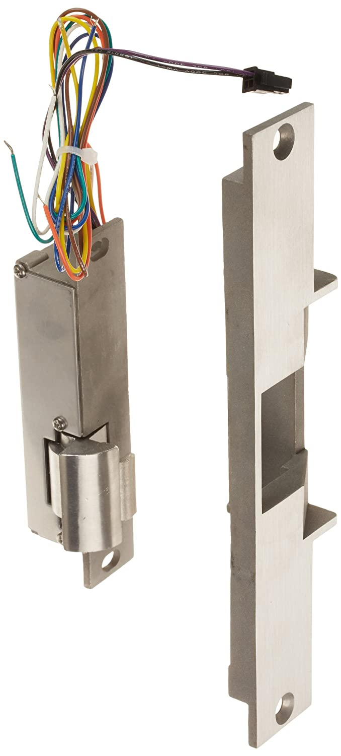 Grade 1 Satin Stainless HES 18103555 310 2 Folger Adam Electric Strikes Latchbolt and Locking Cam Monitor with Auxiliary Switch