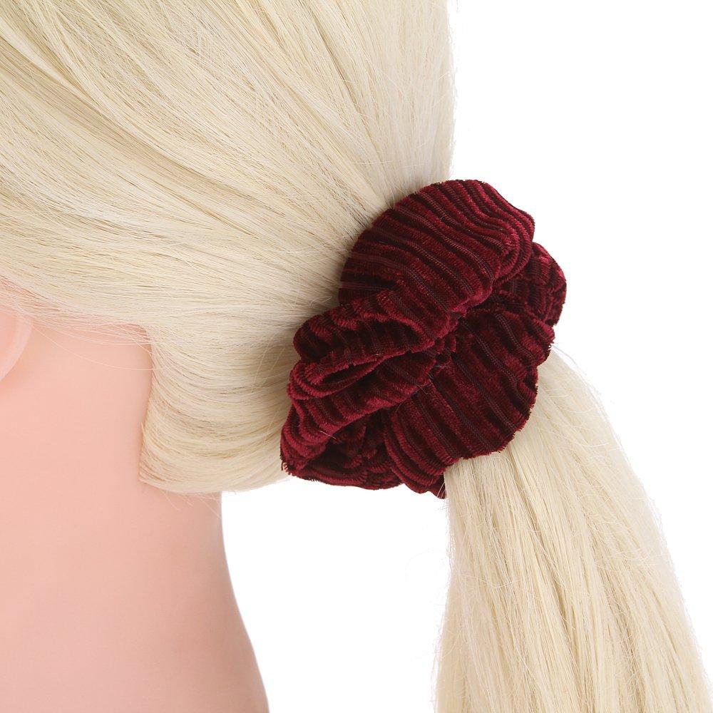 Amazon.com : LONEEDY 10 Pack Large Hair Scrunchies Corduroy Elastics Hair Cirle Bobbles Soft Hair Bands Hair Ties Women And Girls Head Rope Ponytail Holders ...