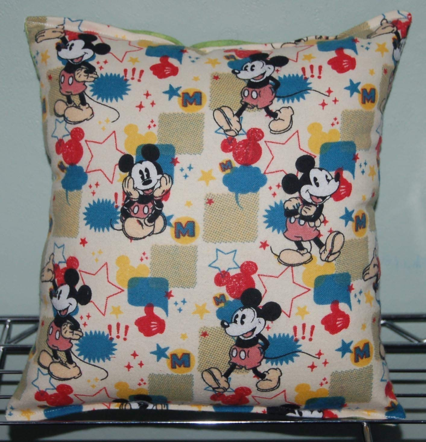 """Mickey Mouse Pillow Retro Mickey Mouse Pillow HANDMADE In USA Pillow is approximately 10/"""" X 11"""