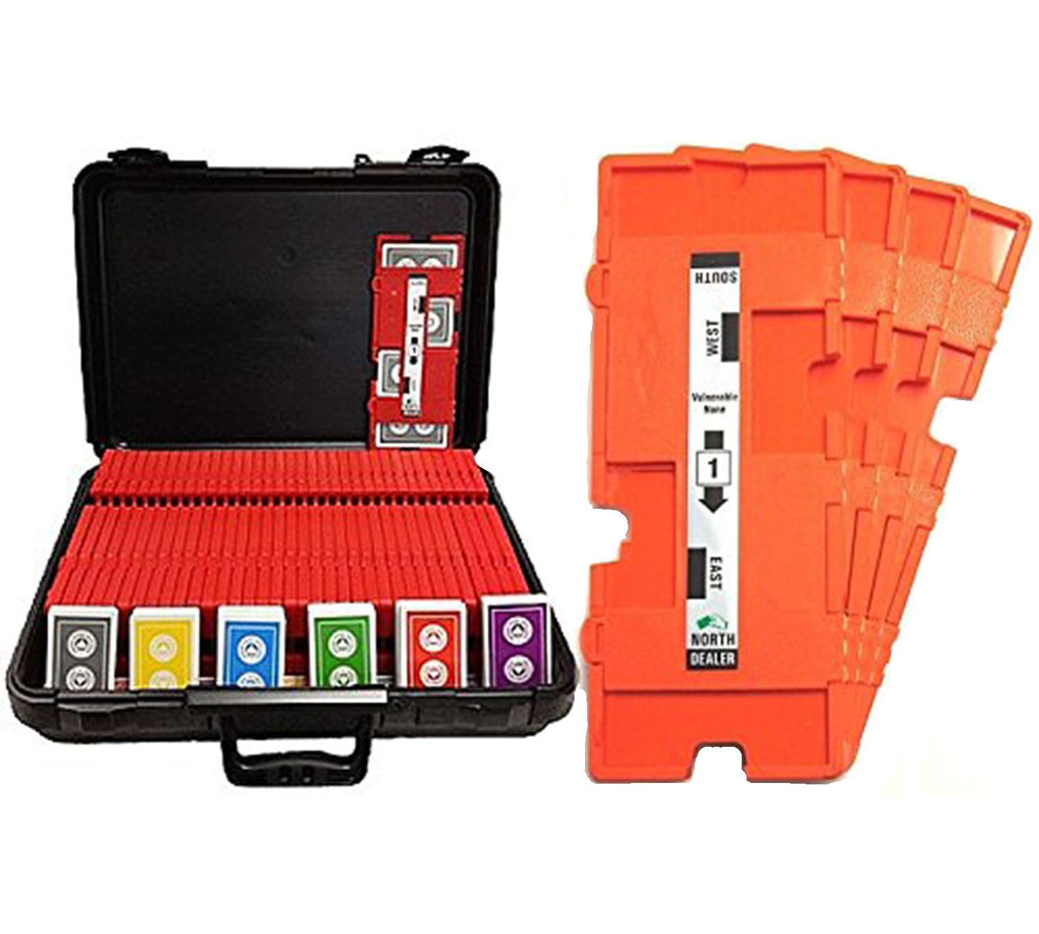 36 Imperial-Plus Duplicate Boards (Orange), 36 Decks ACBL Cards & Carrying Case