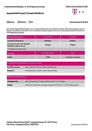 Magenta Mobil Start S Xtra Karte Telekom 10 Euro Amazonde Elektronik