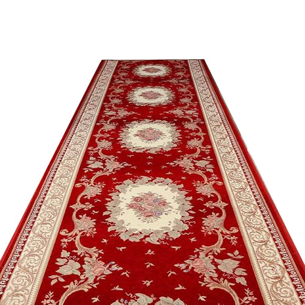 JIAJUAN 廊下のカーペット敷物 ランナー キッチン 長いです ホール 厚い 耐摩耗性 エリア ラグ パッド、 11mm、 様々な長さ カスタマイズ可能 (色 : Red, サイズ さいず : 1x4m) 1x4m Red B07MCTXSV1