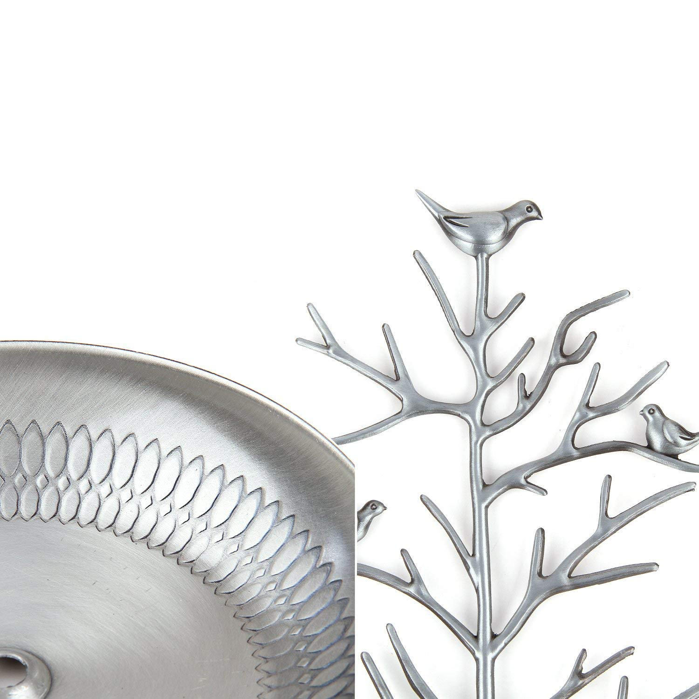 Lavcus V/ögel Schmuckst/änder Kettenst/änder Baum Armbandst/änder Schmuckhalter Ohrringhalter Metall Schmuckaufbewahrung Schmuckbaum Damen