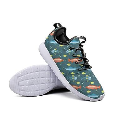 Colored Fish Pattern Women s Hip Hop Running Sneakers Lightweight Mesh Gym  Shoes 6b6450f6b