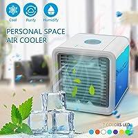 Liecho Personal Mini Air-cooler, Portable Air Conditioner Fan, Small Desktop Fan Personal Table Fan Compact Evaporative Air Circulator Misting Humidifier (Upgrade Version)