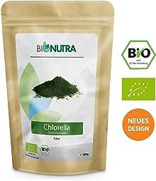 BioNutra Chlorella-Pulver Bio 250 g, ohne Zusätze, rückstandskontrolliert, aus kontrolliert biologischer Kultur