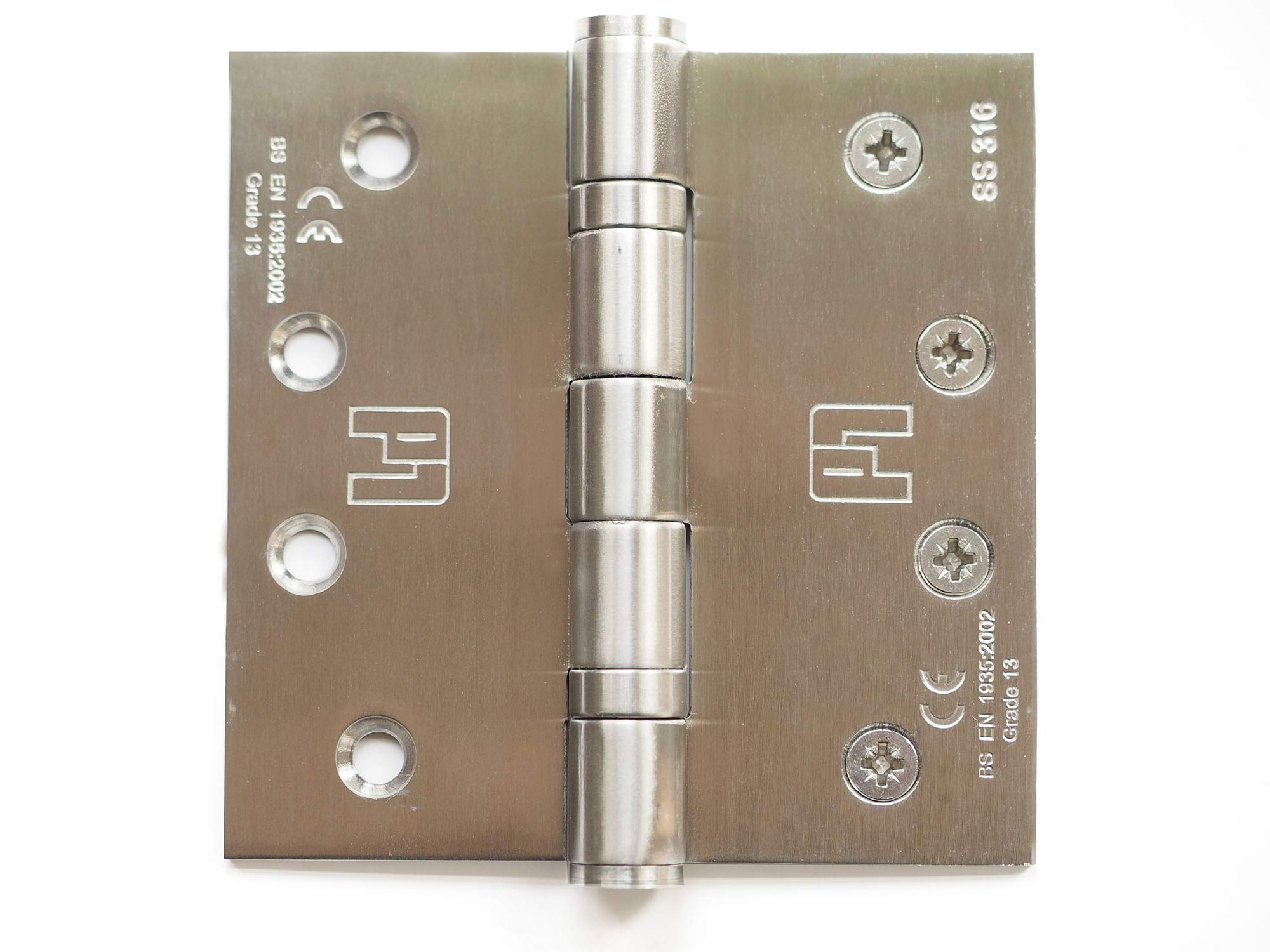 Anti-Corrosion 316 Stainless Steel Door Hinges 2pk. Used for Commercial or Residential Heavy Doors. Reliable Under high Usage. Withstands Harsh temperatures Yet retaining Strength and Durability