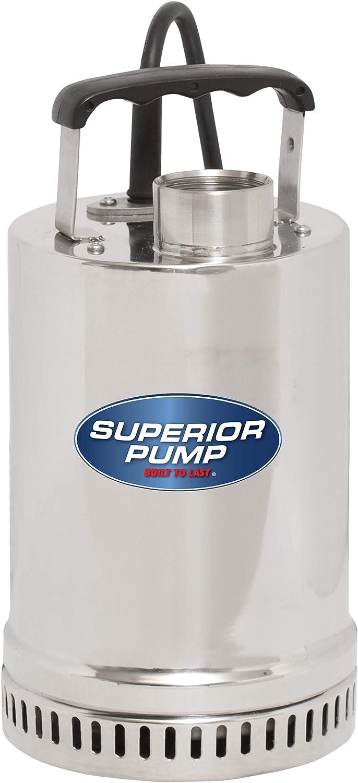 Superior Pump 91292 Stainless 1/4 HP Steel Utility Pump