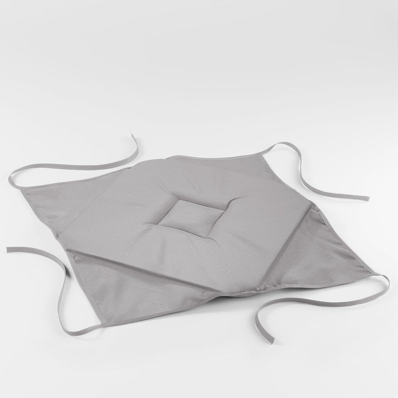 1001KDO POUR LA MAISON Coussin galette de chaise 36 x 36 x 3.5 cm gris essentiel