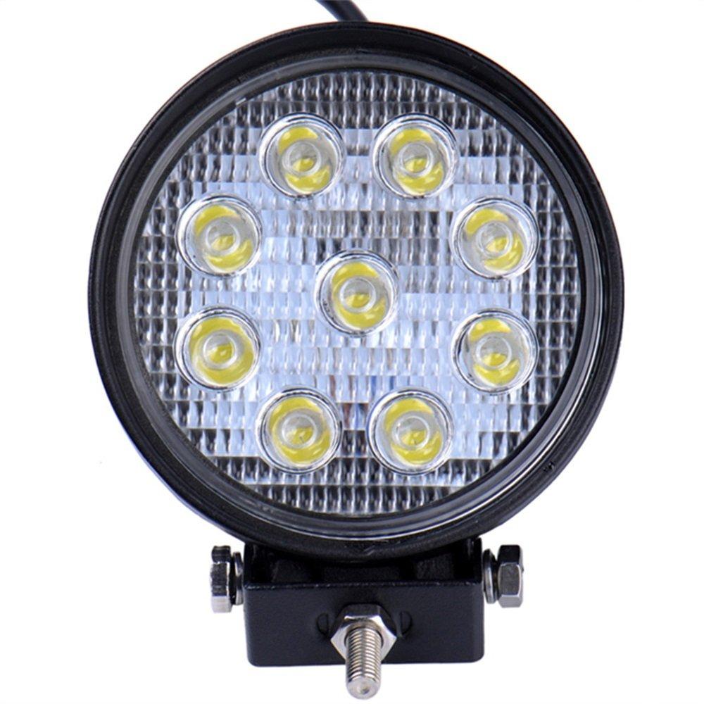 Viugreum 27W Lampada LED Ultra Potente Faretti Fendinebbia Fari da Fuoristrada Riflettori Auto Piscina IMPERMEABILE IMMERGIBILE IP67 Lampade Lavoro Precisione 5400 Rotondi Vigreum