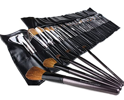 Bundle Monster 34pc Studio Pro Makeup Make Up Cosmetic Brush ...
