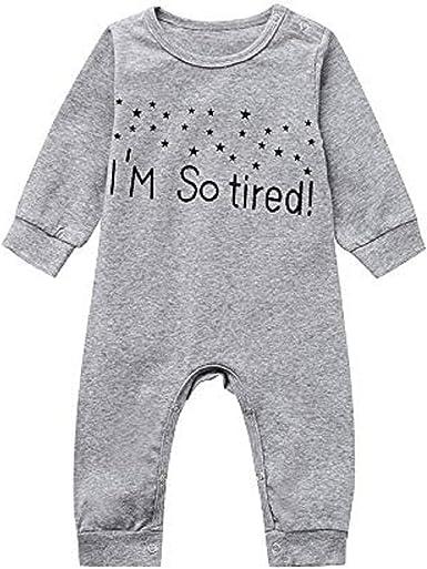 Newborn Infant Baby Girls Boys Print Jumpsuit Bodysuit Romper Outfits Clothes