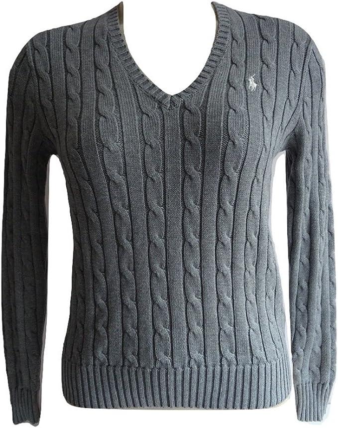 Ralph Lauren Jersey de algodón con cuello en V y cuello en V