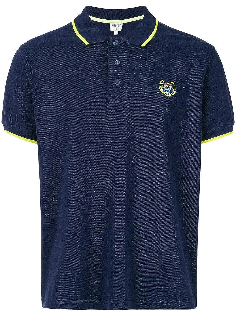 4e16dca637 Kenzo Men's Tiger Head Polo Shirt Navy Blue XXXL at Amazon Men's ...