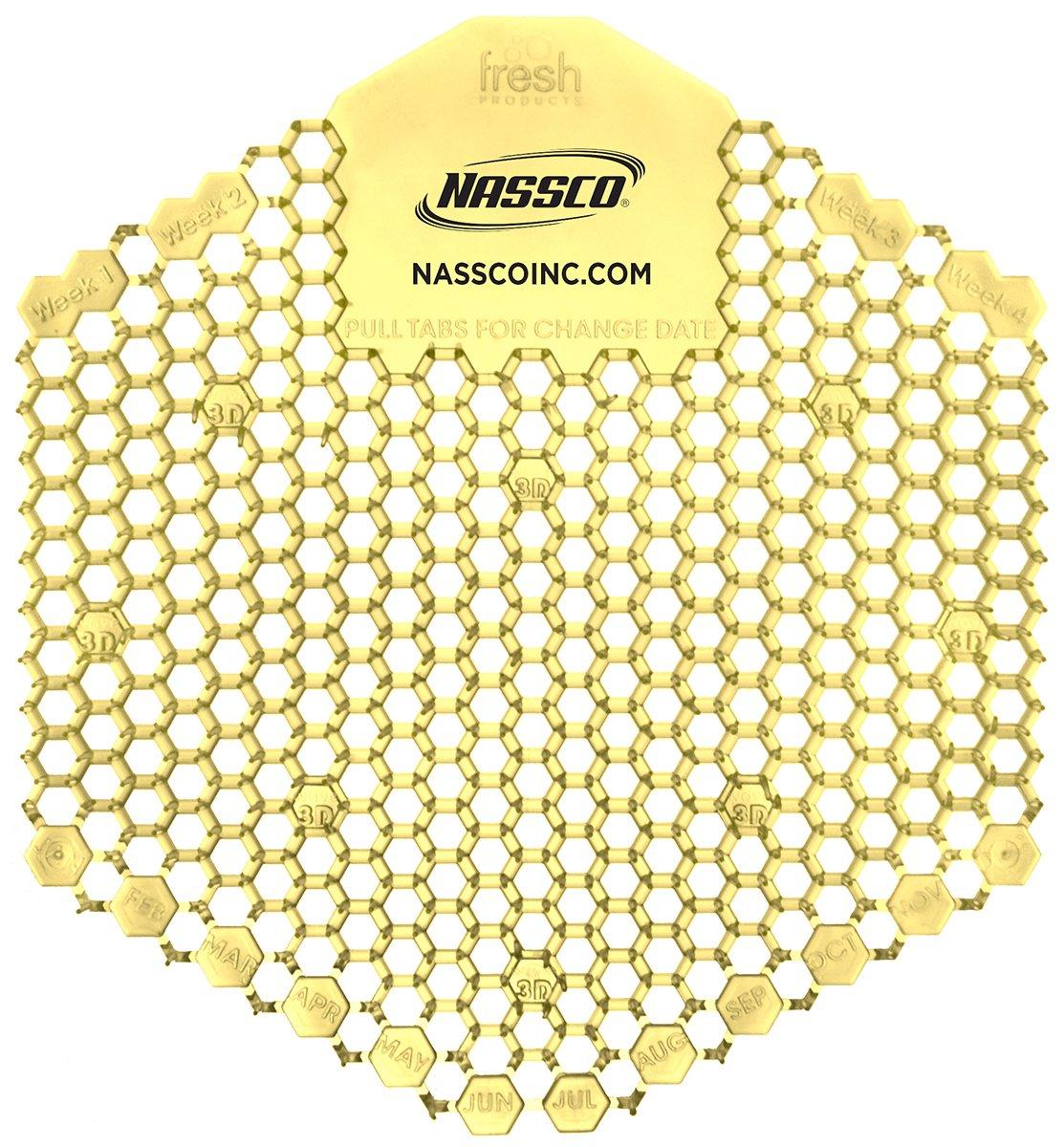 Nassco Tidal Wave Enzymatic Urinal Screen, Citrus, 10 per Box
