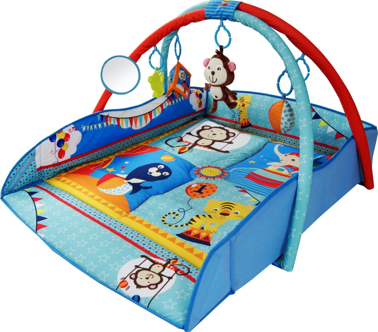 Bebe Style 4-in-1 Animal World Play Mat (Large) PM-HC9060Blue
