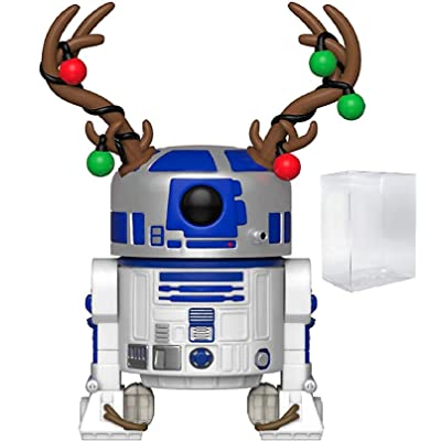 Funko Pop! Star Wars: Holiday - R2-D2 with Antlers Vinyl Figure (Includes Pop Box Protector Case): Toys & Games