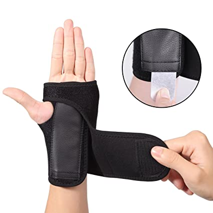 EXski Wrist Splint Carpal Tunnel Hand Palm Brace Support for Arthritis Sprains Strains Left Hand One
