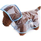 TOPSUNG Dog Raincoat Waterproof Puppy Jacket Pet Rainwear Clothes for Small Dogs/Cats