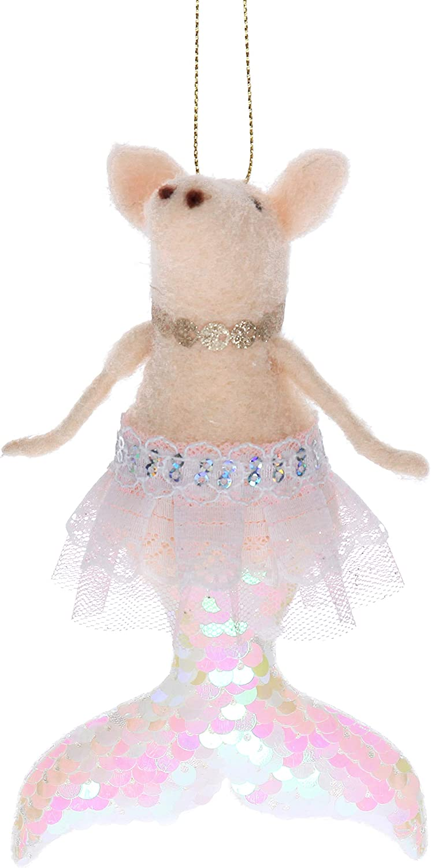 Gisela Graham Wool Mix Pig Ballerina Christmas Decoration