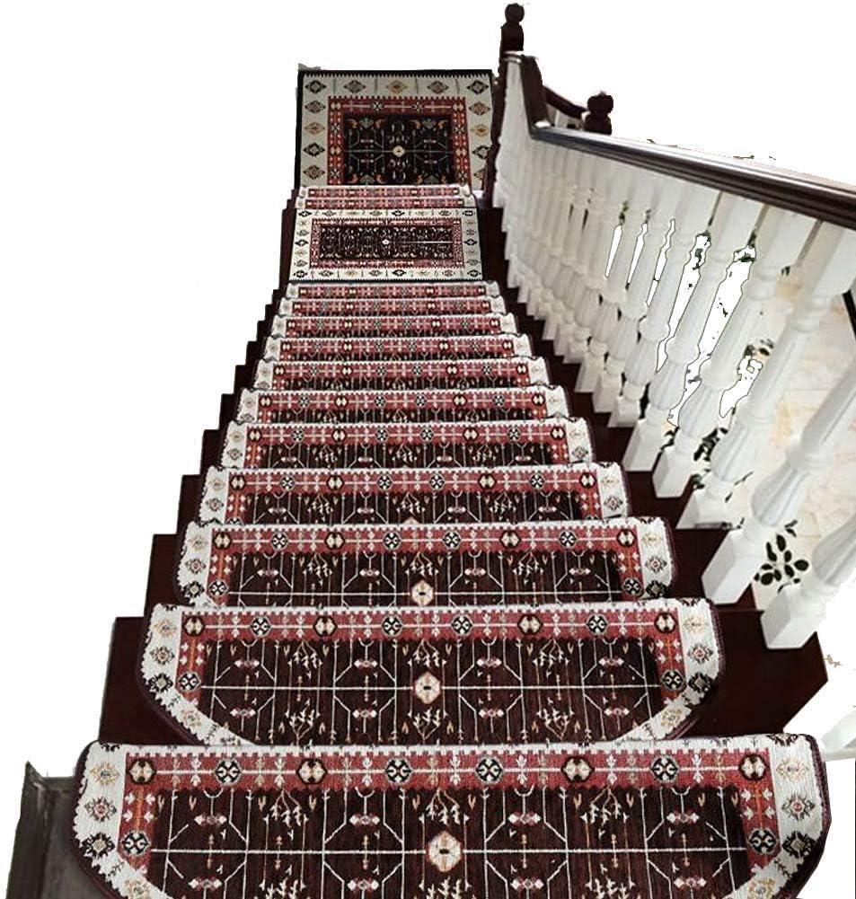 GJX-Alfombra de la Escalera Autoadhesivo Huellas De Escalón Mats Cojín Antideslizante Paso Protección Alfombra De Escalera Cubierta De Alfombras Engrosamiento Domésticas De Interiores: Amazon.es: Hogar