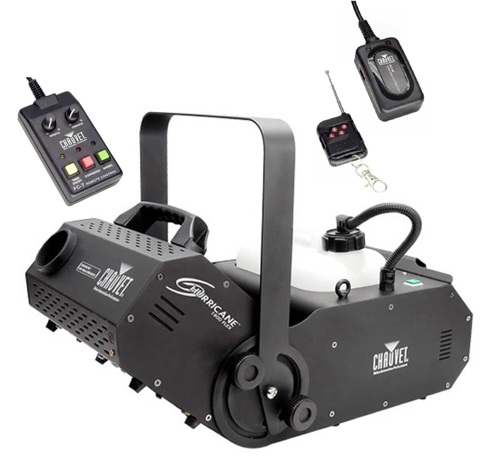 NEW! CHAUVET HURRICANE H1800 FLEX Fog/Smoke Pro Machine w/ FC-W Wireless Remote