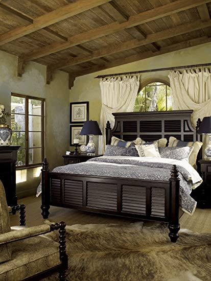 Amazon Com Tommy Bahama Home Kingstown Malabar Panel Bed In
