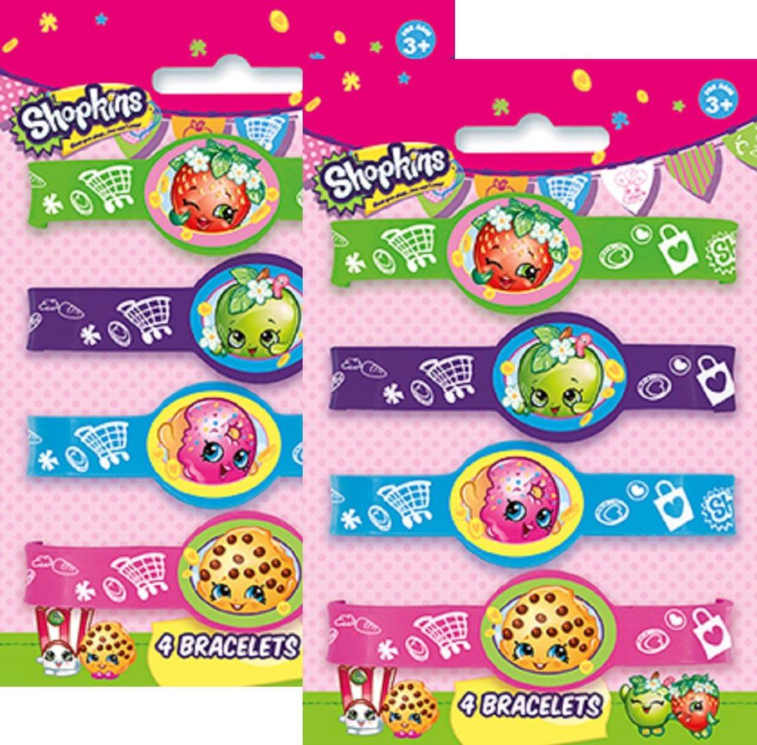 Shopkins Birthday Party Rubber Bracelets Package of 8 Unique Industries LYSB01ATTSGWU-TOYS