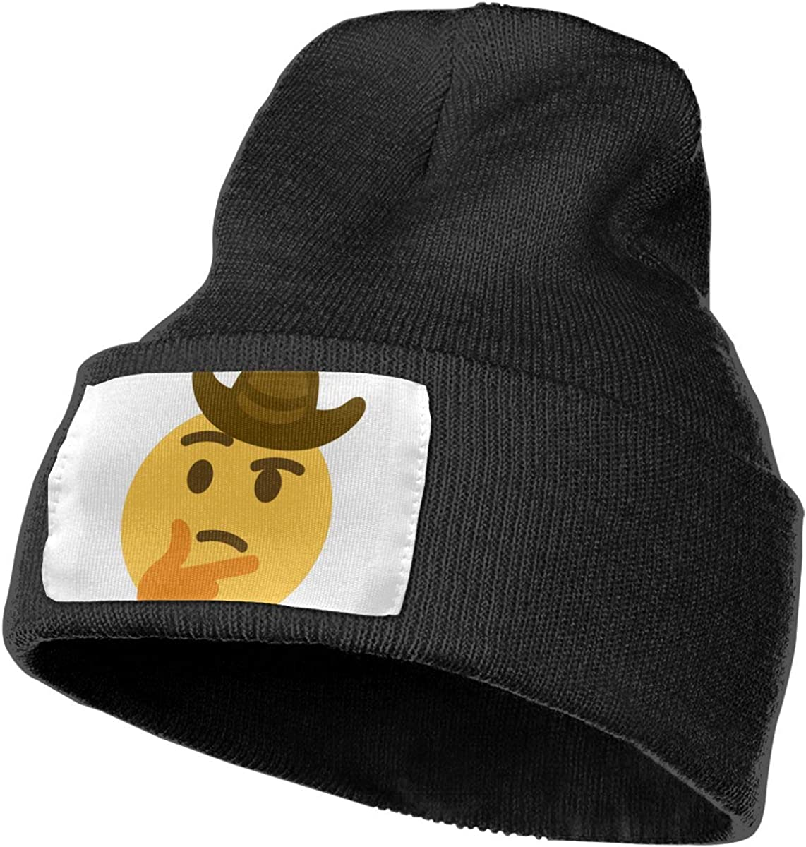 QZqDQ Thinking Cowboy Unisex Fashion Knitted Hat Luxury Hip-Hop Cap