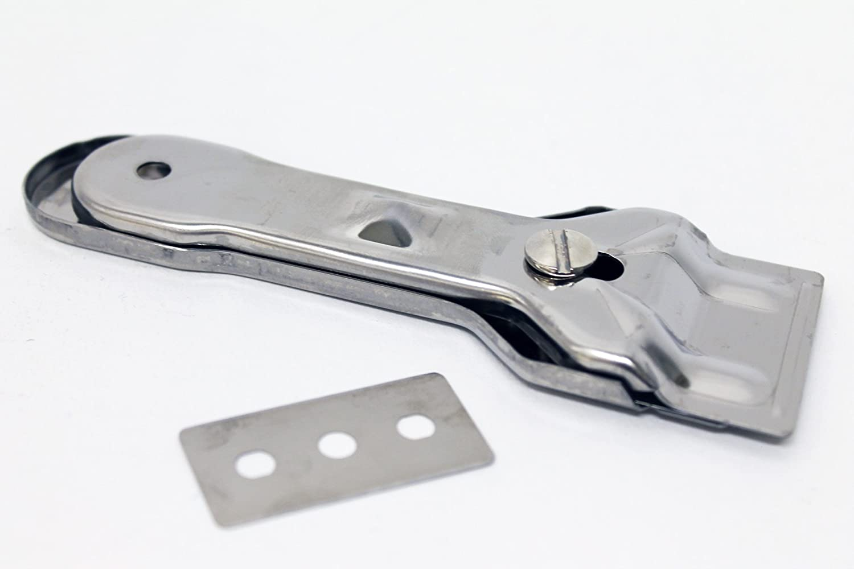 SPAREGETTI Universal Non Scratch Hob Scraper Complete with 10 blades & Storage bag