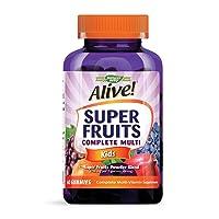 Nature's Way Alive! Super Fruits Kids Multivitamin Gummies, A, C, D, E, B-Vitamin...