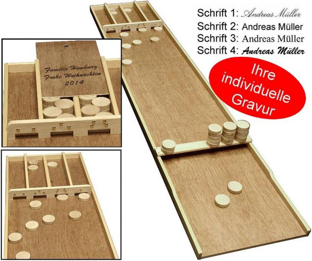 Sjoelbak Familien das Shuffleboard aus Holland mit Gravur, tolle Geschenk - Idee ludomax