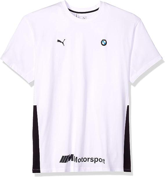 Puma Herren Bmw Motorsport Life Tee Herren T Shirt Bmw Motorsport Life Tee F Puma Weiß Small Bekleidung