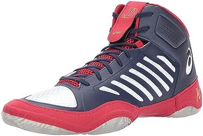 8e87a54166 ASICS Men's Indigo Blue/White/Classic Red Boxing Shoes-8 UK/India ...