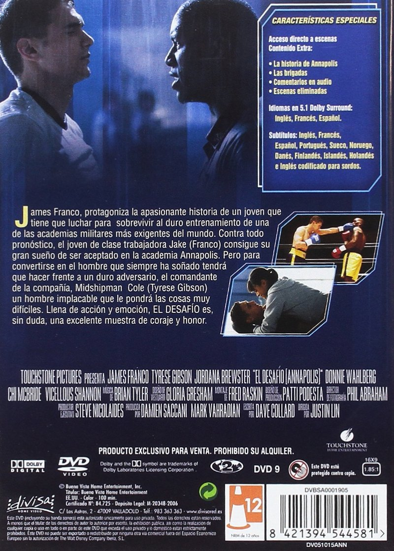 El desafío (Annapolis) [DVD]: Amazon.es: James Franco ...