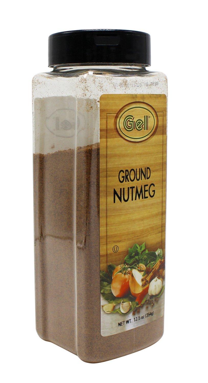Gel Spice Ground Nutmeg 12.5 oz | Club Size | Aromatic and Gourmet | Kosher